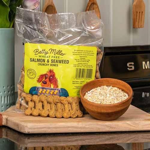 Betty Miller Wheat Free Salmon & Seaweed bones